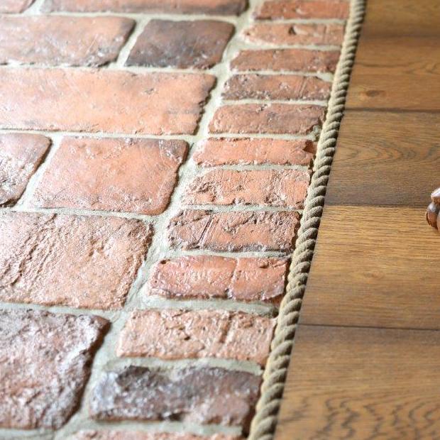 Stara cegła podłoga/taras